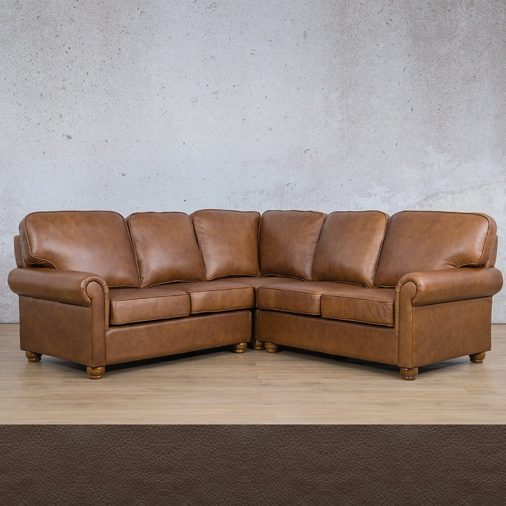Salisbury Leather L-Sectional - 5 Seater