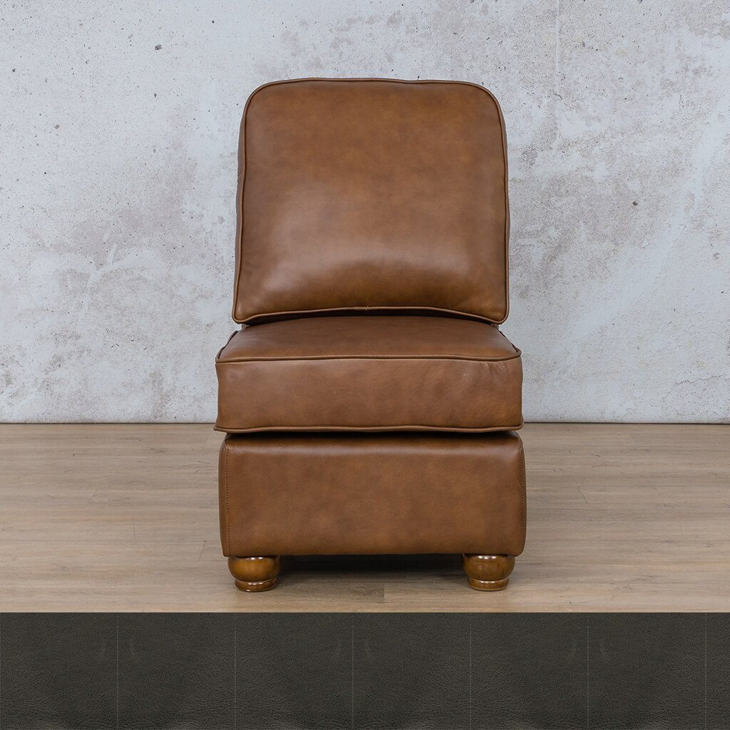 Salisbury Leather Armless Chair