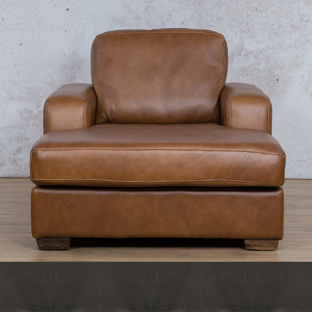 Stanford Leather 2 Arm Chaise