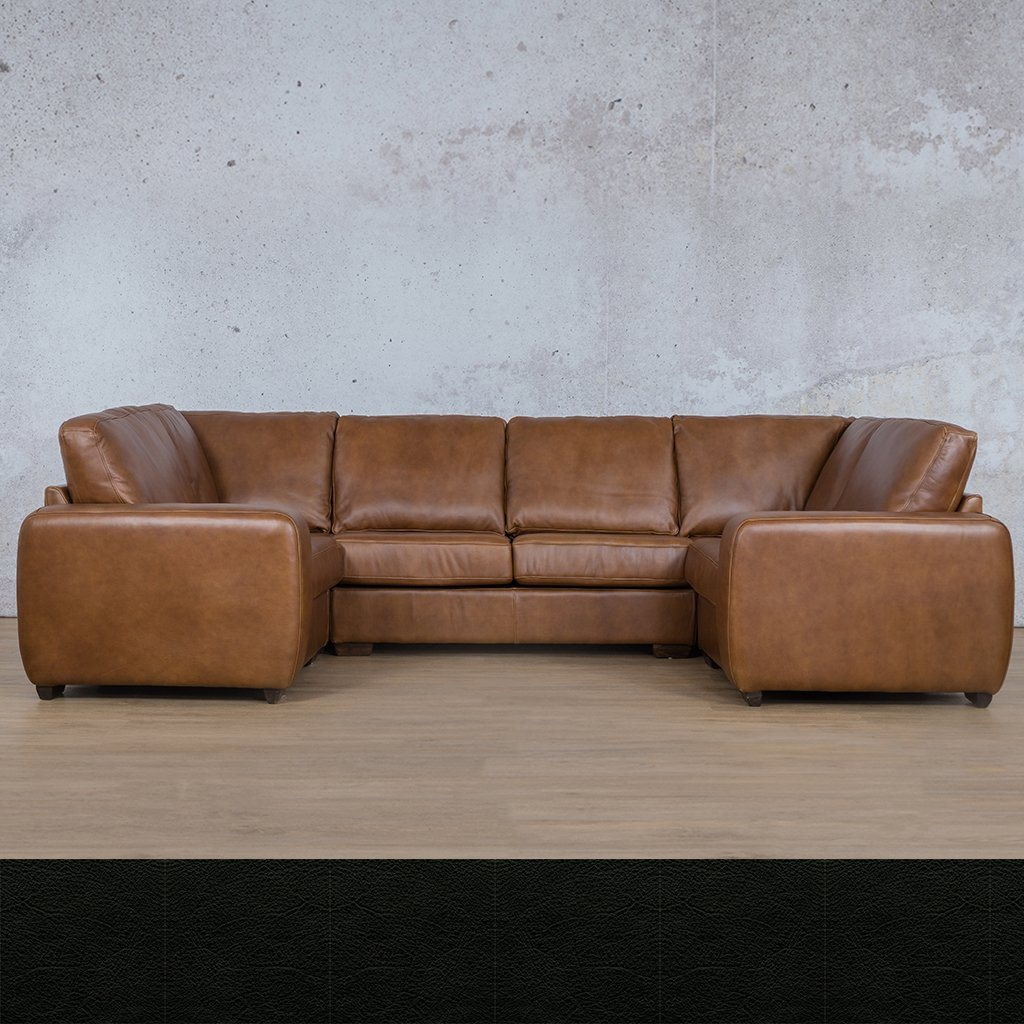Stanford Leather U-Sofa