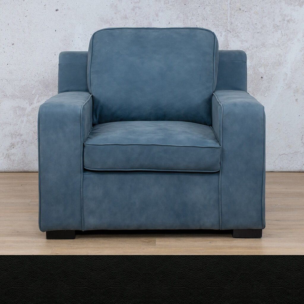 Arizona Leather | 1 Seater | Czar Black | Leather Gallery