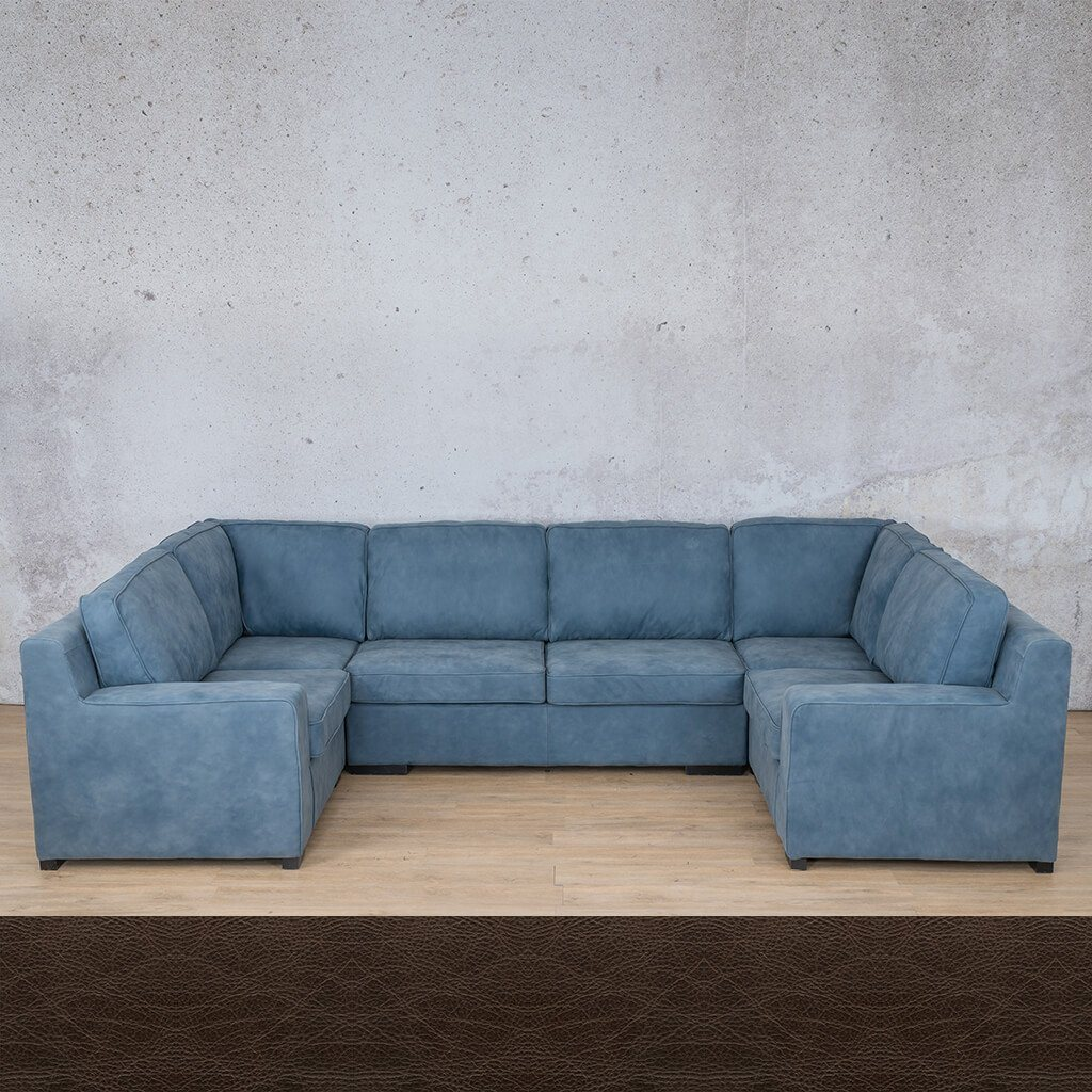 Arizona Leather U-Sofa Sectional