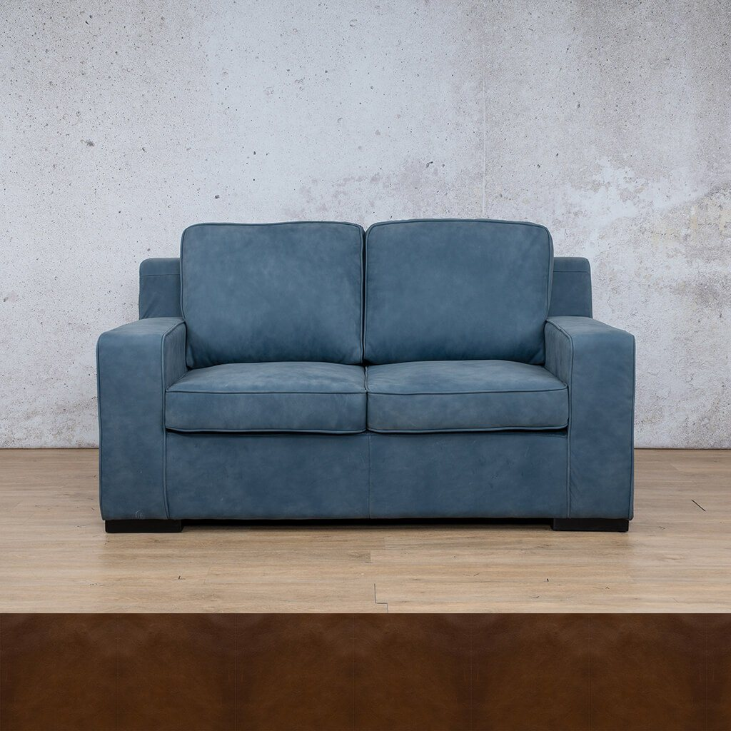 Arizona Leather Couch | 2 seater couch | Czar Pecan | Couches for Sale | Leather Gallery Couches