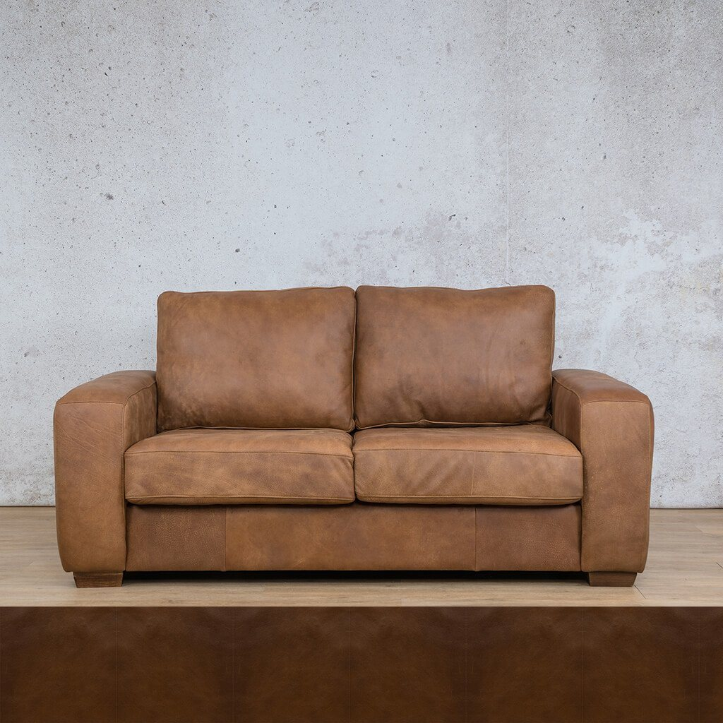 Stanford Leather Couch | 2 seater couch | Czar Pecan | Couches for Sale | Leather Gallery Couches