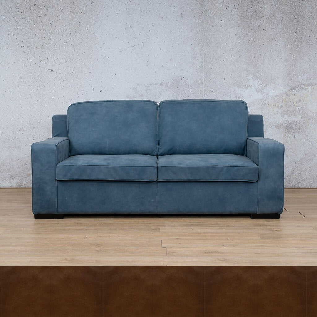 Arizona Leather Couch | 3 seater couch | Czar Pecan | Couches for Sale | Leather Gallery Couches