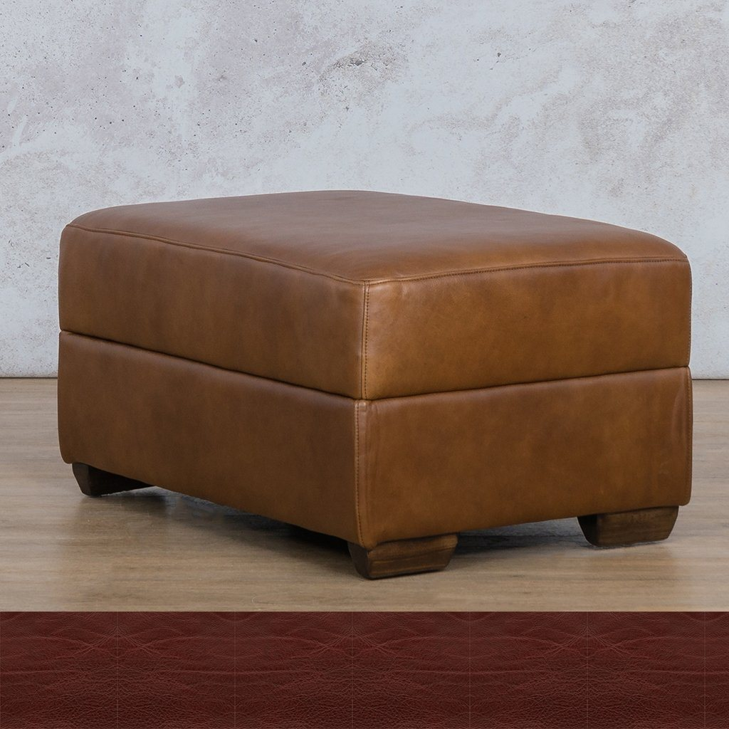 Stanford Leather Ottoman