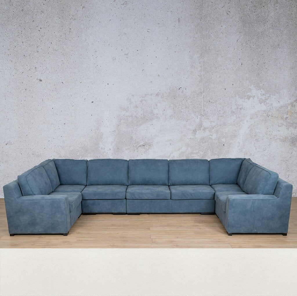 Arizona Leather Modular U-Sofa Sectional