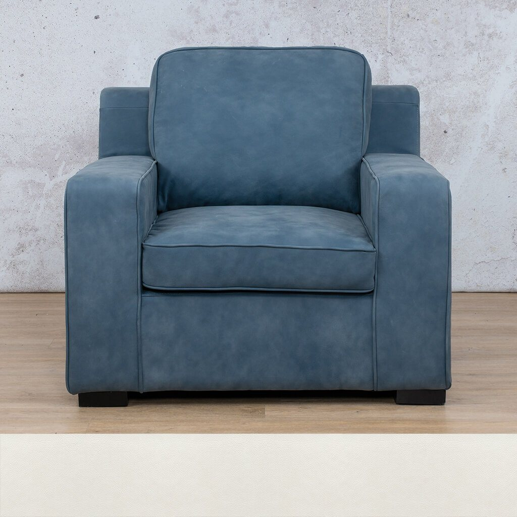 Arizona Leather | 1 Seater | Czar White | Leather Gallery