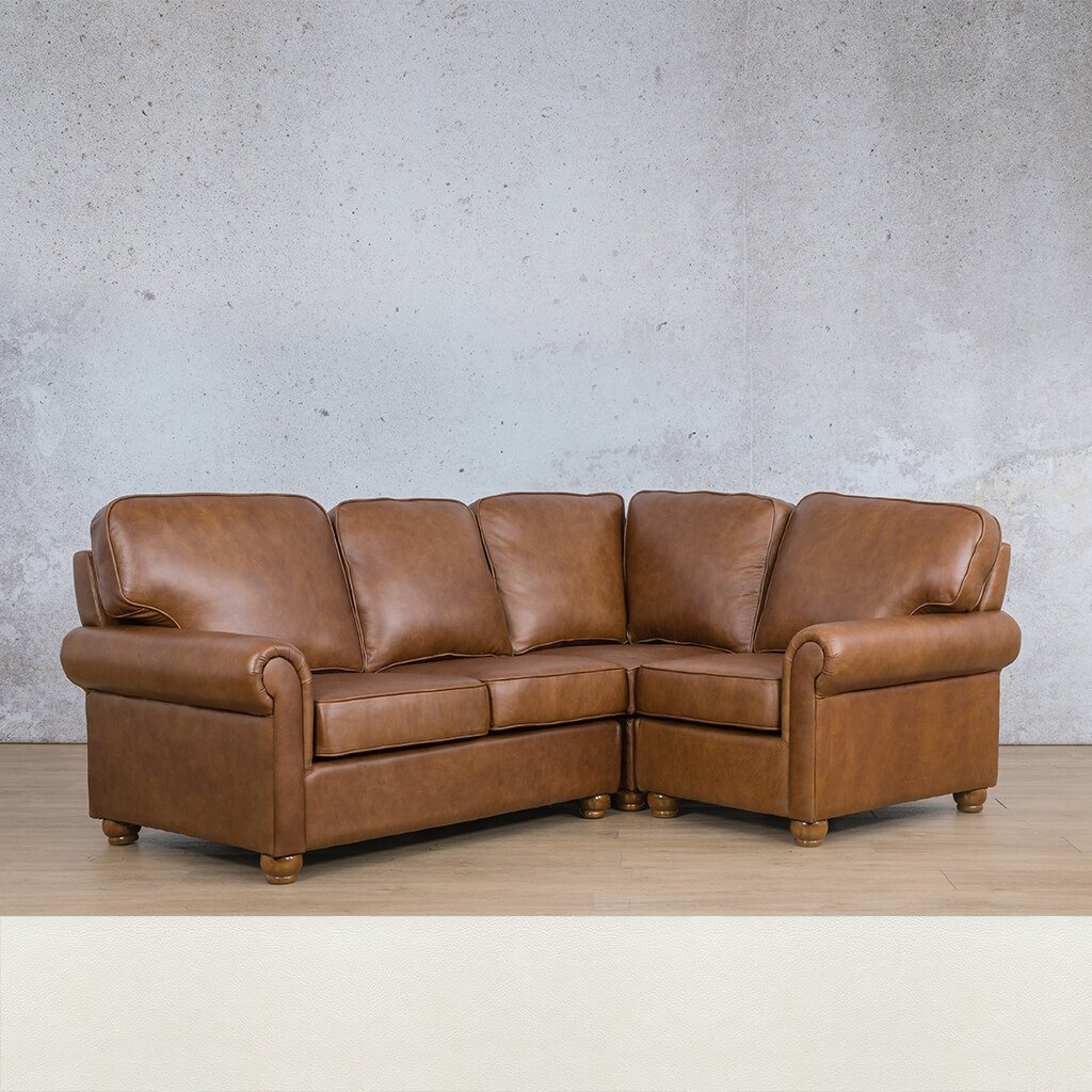Salisbury Leather L-Sectional 4 Seater - RHF