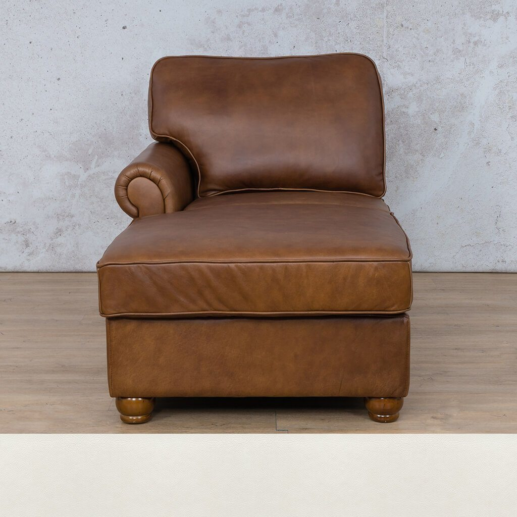 Salisbury Leather Chaise Right Arm
