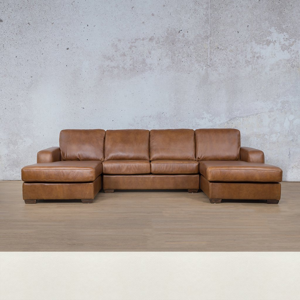 Stanford Leather U-Chaise