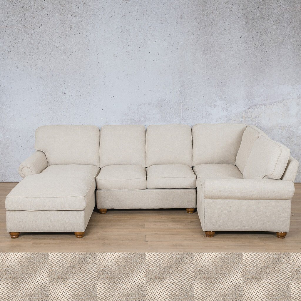 Salisbury Fabric Corner Couch | U-Sofa Chaise Sectional-LHF | Dapple | Couches For Sale | Leather Gallery Couches