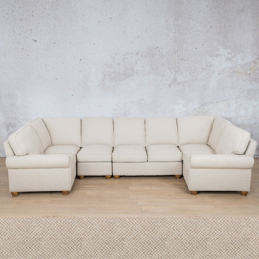 Salisbury Fabric Corner Couch | Modular U-Sofa Sectional | Dapple | Couches For Sale | Leather Gallery Couches