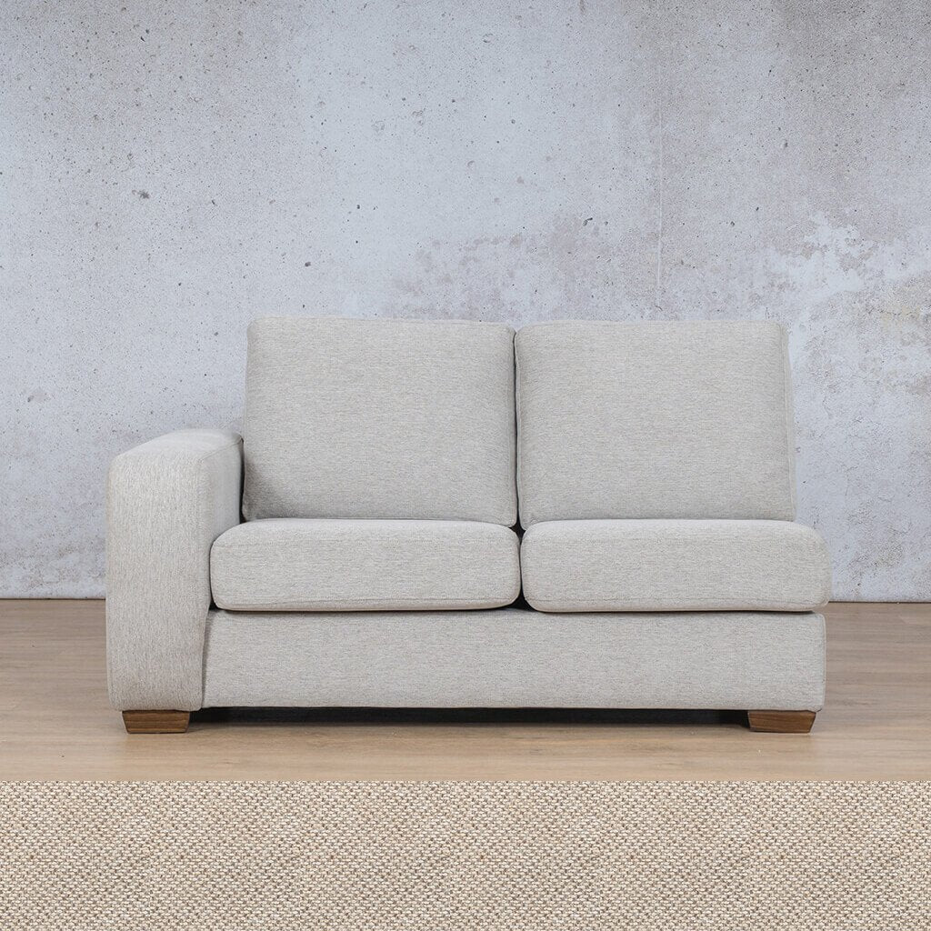 Stanford Fabric Corner Couch | 2 Seater Right Arm | Dapple | Couches For Sale | Leather Gallery Couches