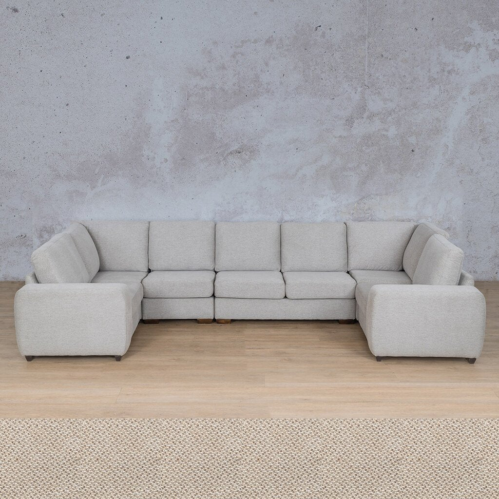 Stanford Fabric Corner Couch | Modular U-Sofa Couch | Dapple | Couches For Sale | Leather Gallery Couches