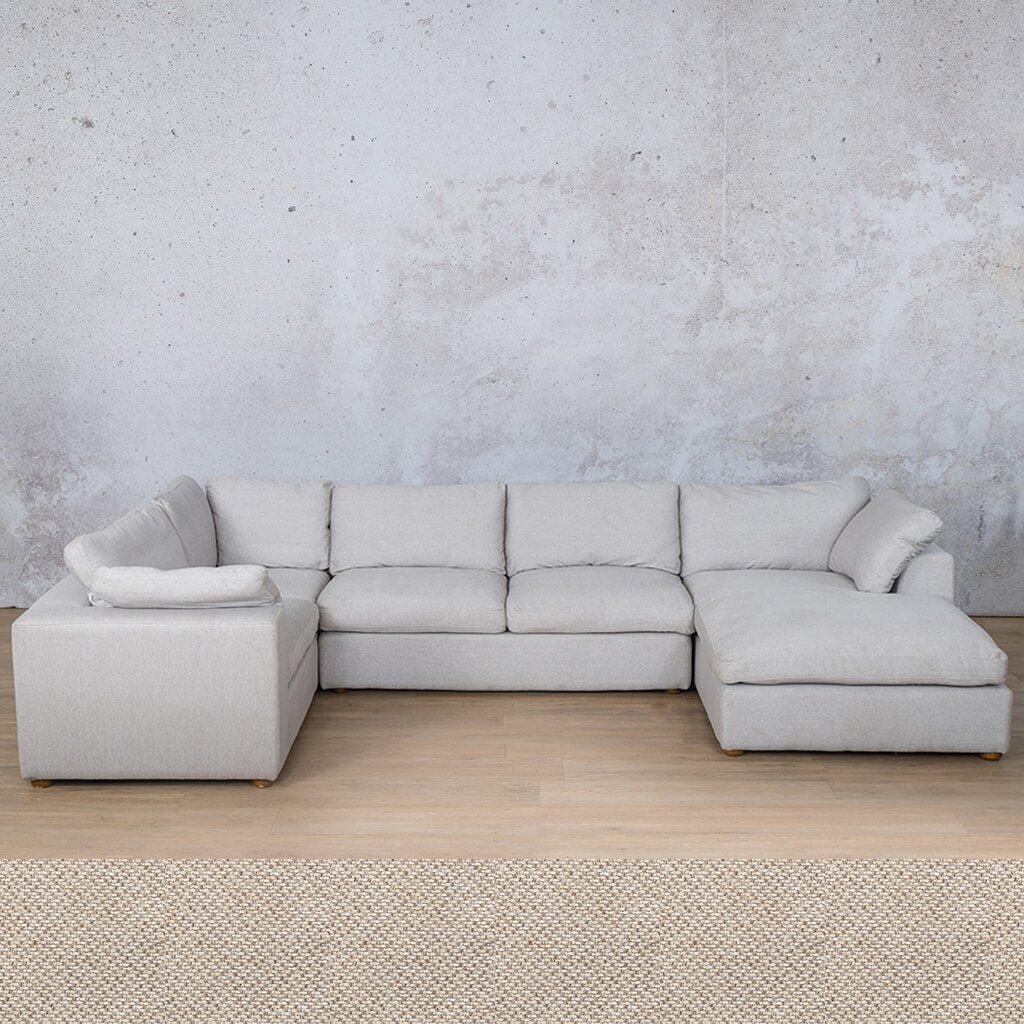 Skye Fabric Corner Couch | U-Sofa Chaise Sectional-RHF | Dapple | Couches For Sale | Leather Gallery Couches