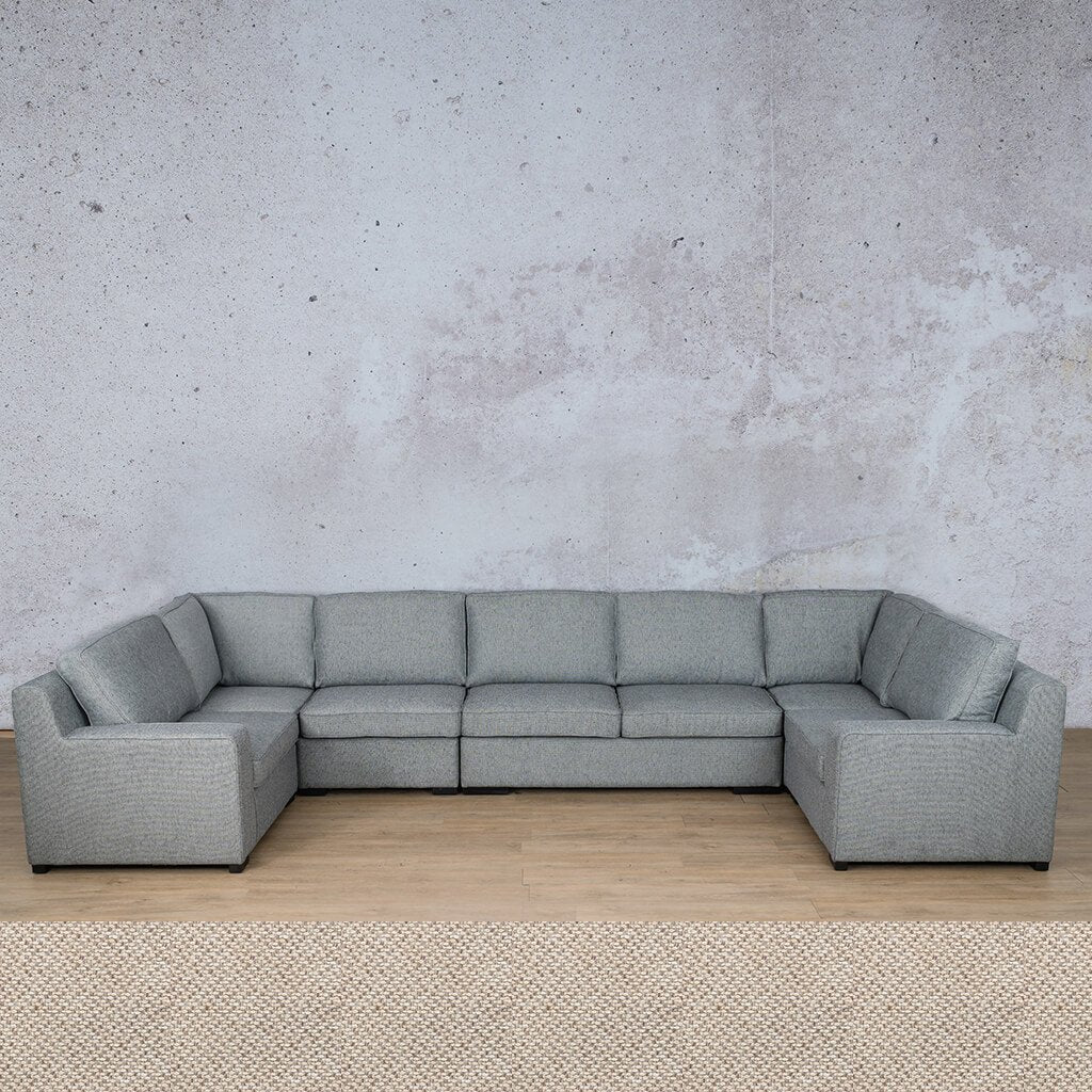 Arizona Fabric Corner Couch | Modular U-Sofa Sectional | Dapple | Couches For Sale | Leather Gallery Couches