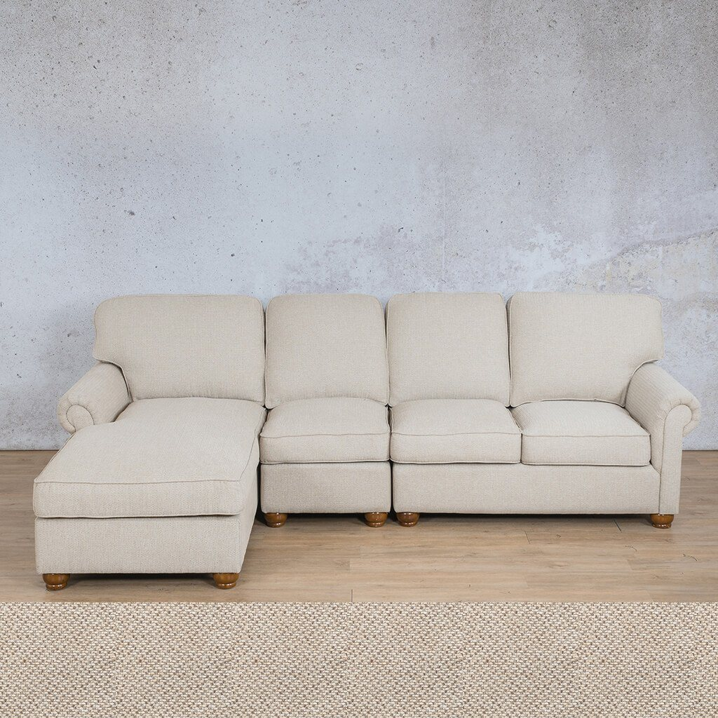 Salisbury Fabric Corner Couch | Chaise Modular U-Sofa Sectional-LHF | Dapple | Couches For Sale | Leather Gallery Couches