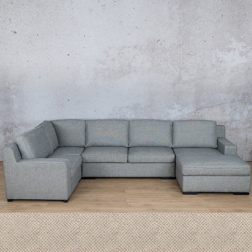 Arizona Fabric Corner Couch | U-Sofa Chaise Sectional-RHF | Dapple | Couches For Sale | Leather Gallery Couches