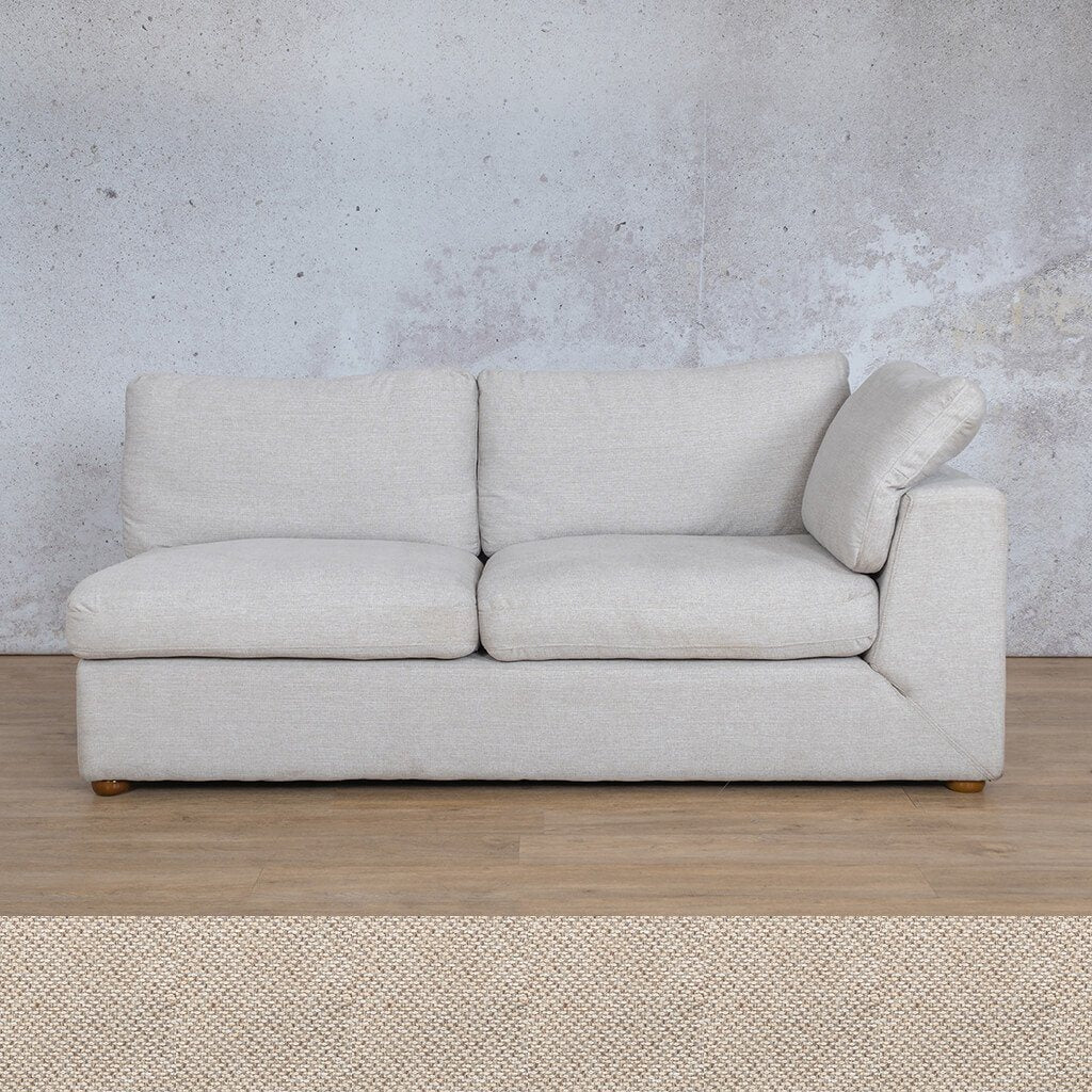 Skye Fabric Corner Couch | 2 Seater Left Arm Couch | Dapple | Couches For Sale | Leather Gallery Couches