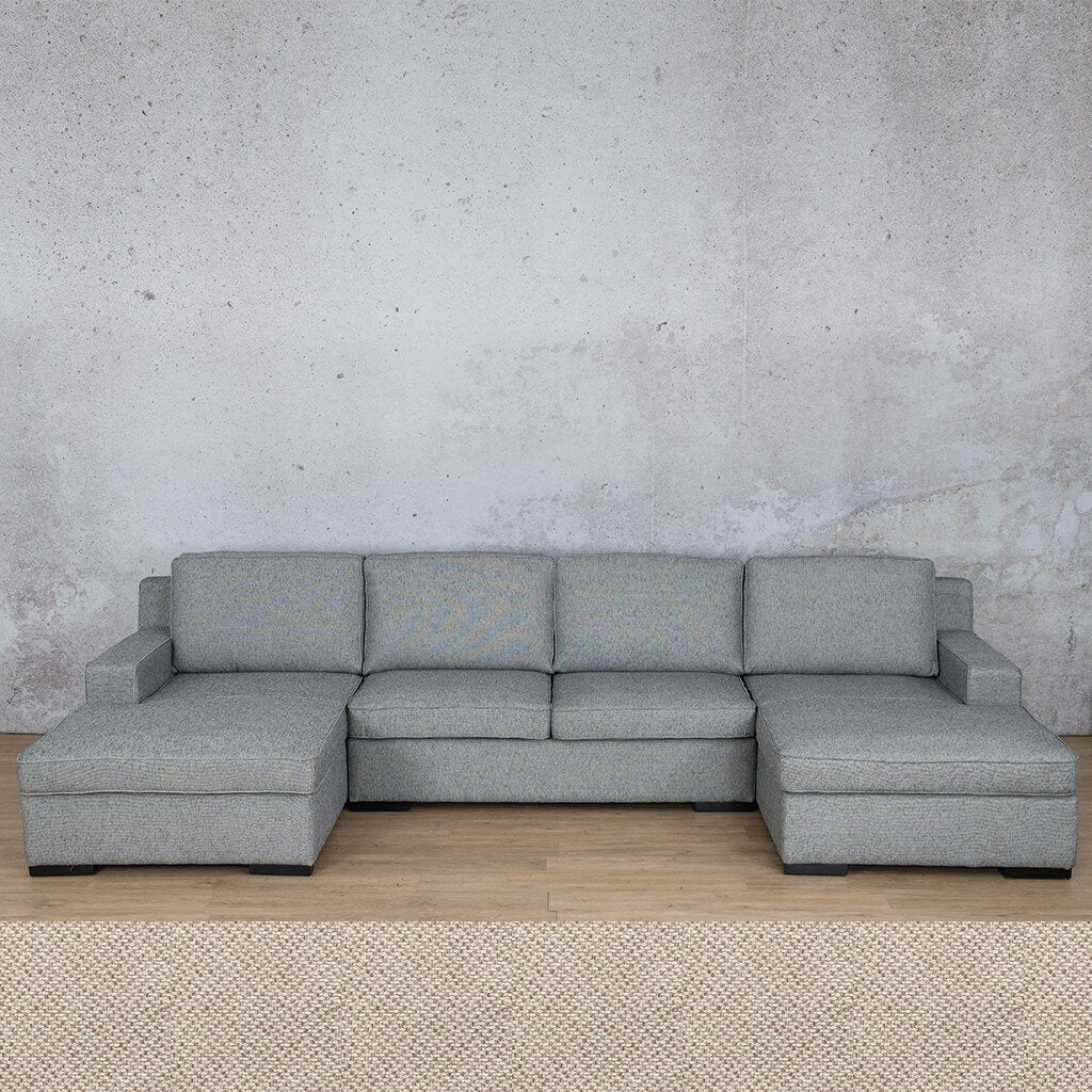 Arizona Fabric Corner Couch | U-Chaise Sectional | Dapple | Couches For Sale | Leather Gallery Couches