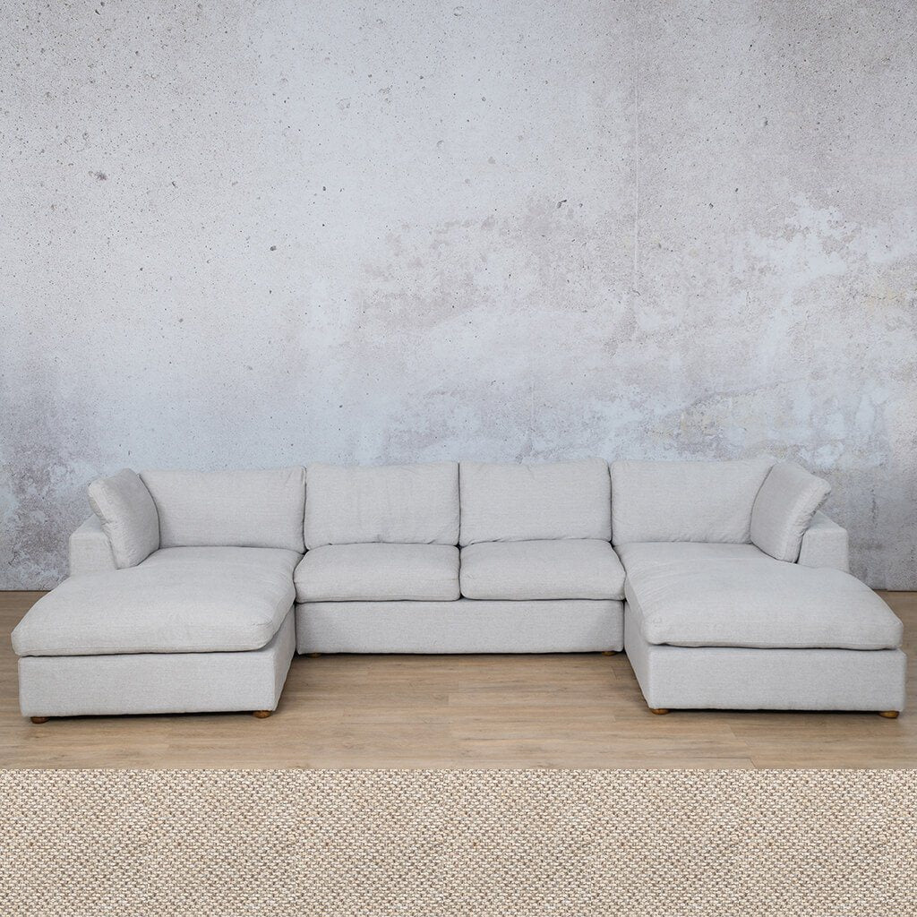 Skye Fabric Corner Couch | U-Sofa Sectional | Dapple | Couches For Sale | Leather Gallery Couches