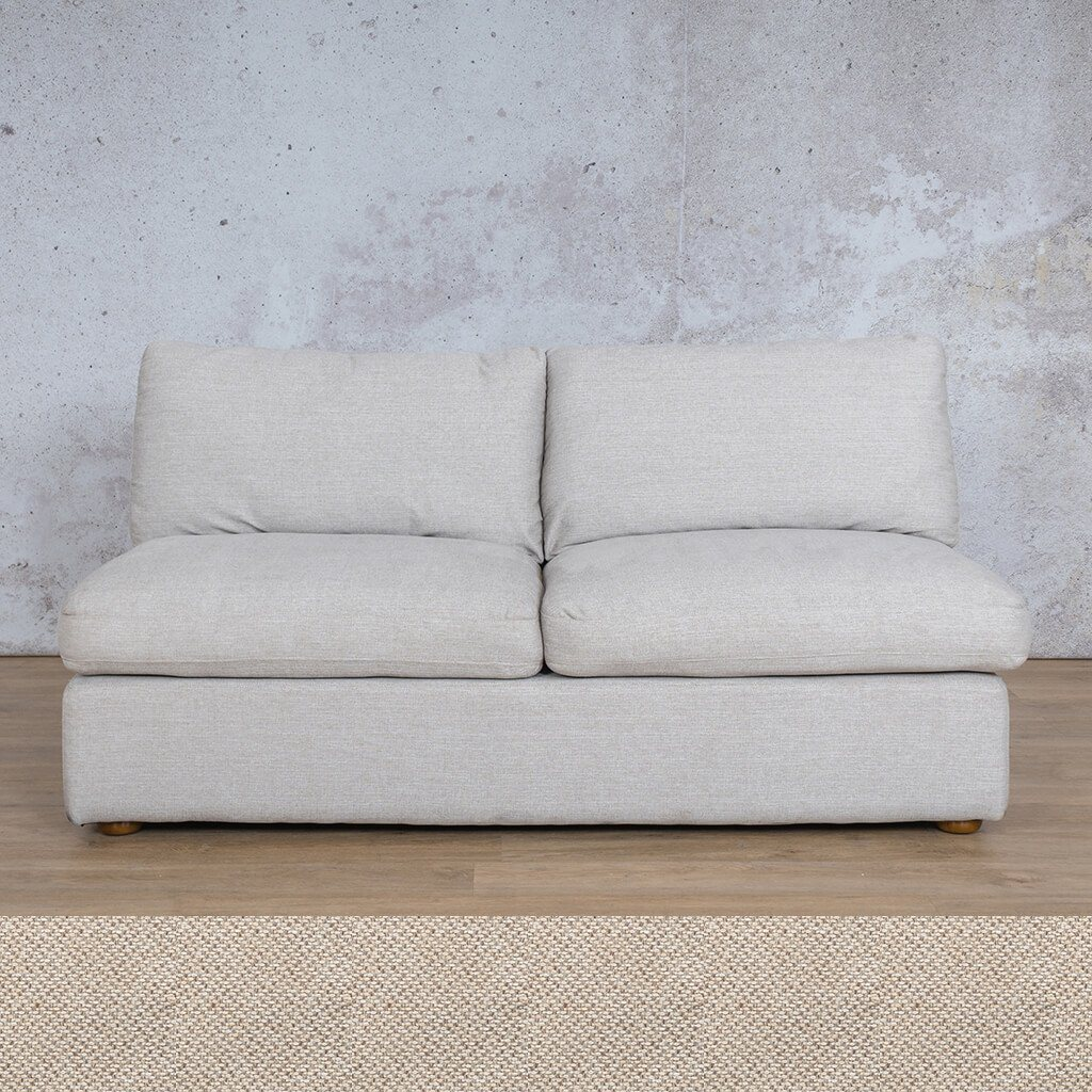 Skye Fabric Corner Couch | Armless 2 Seater Couch | Dapple | Couches For Sale | Leather Gallery Couches