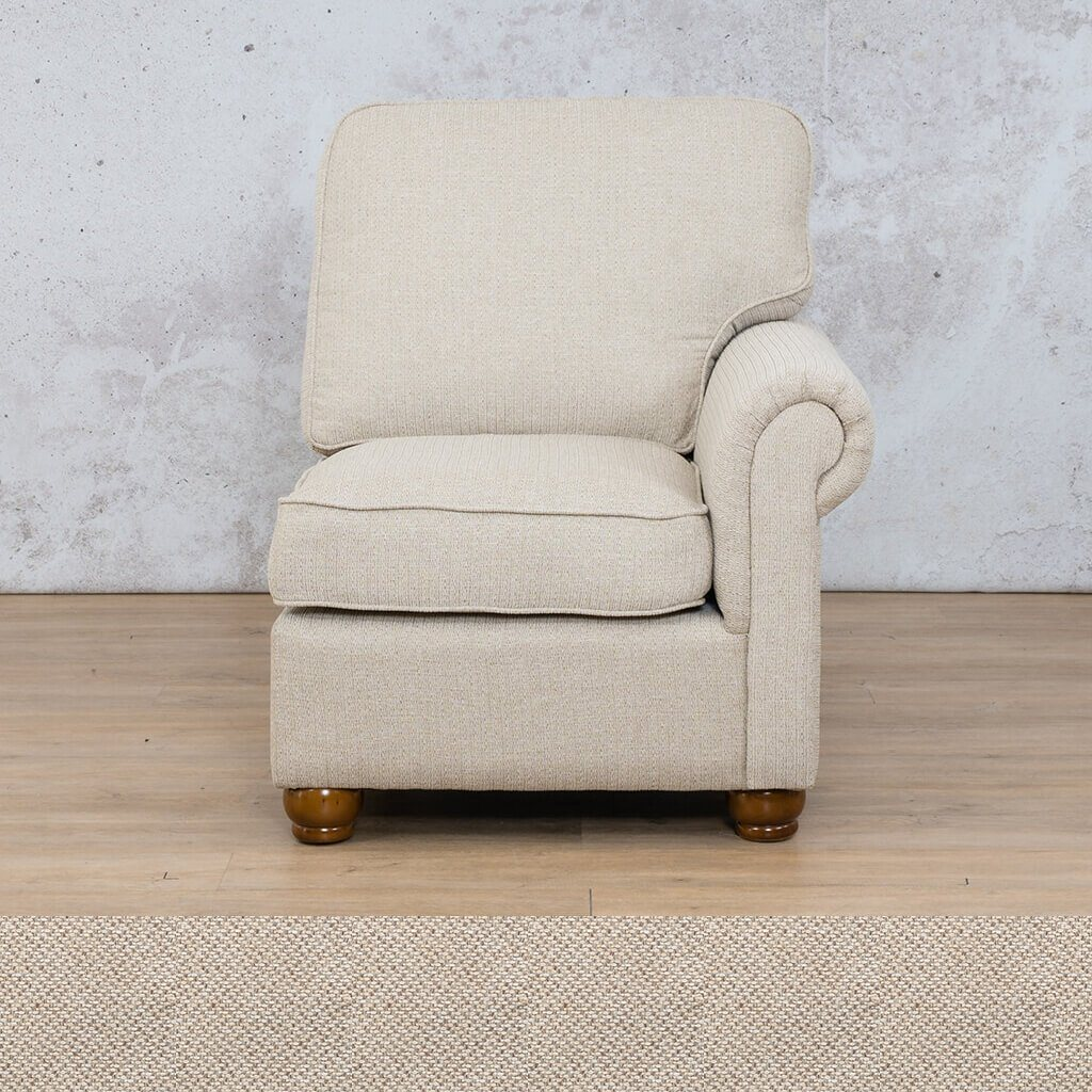 Salisbury Fabric 1 Seater Left Arm