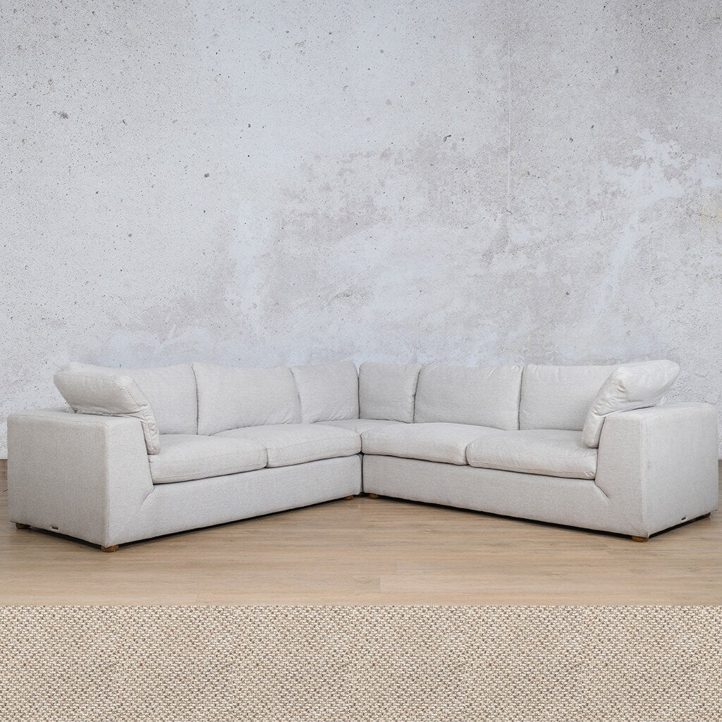 Skye Fabric Corner Couch | L-Sectional 5 Seater | Dapple | Couches For Sale | Leather Gallery Couches