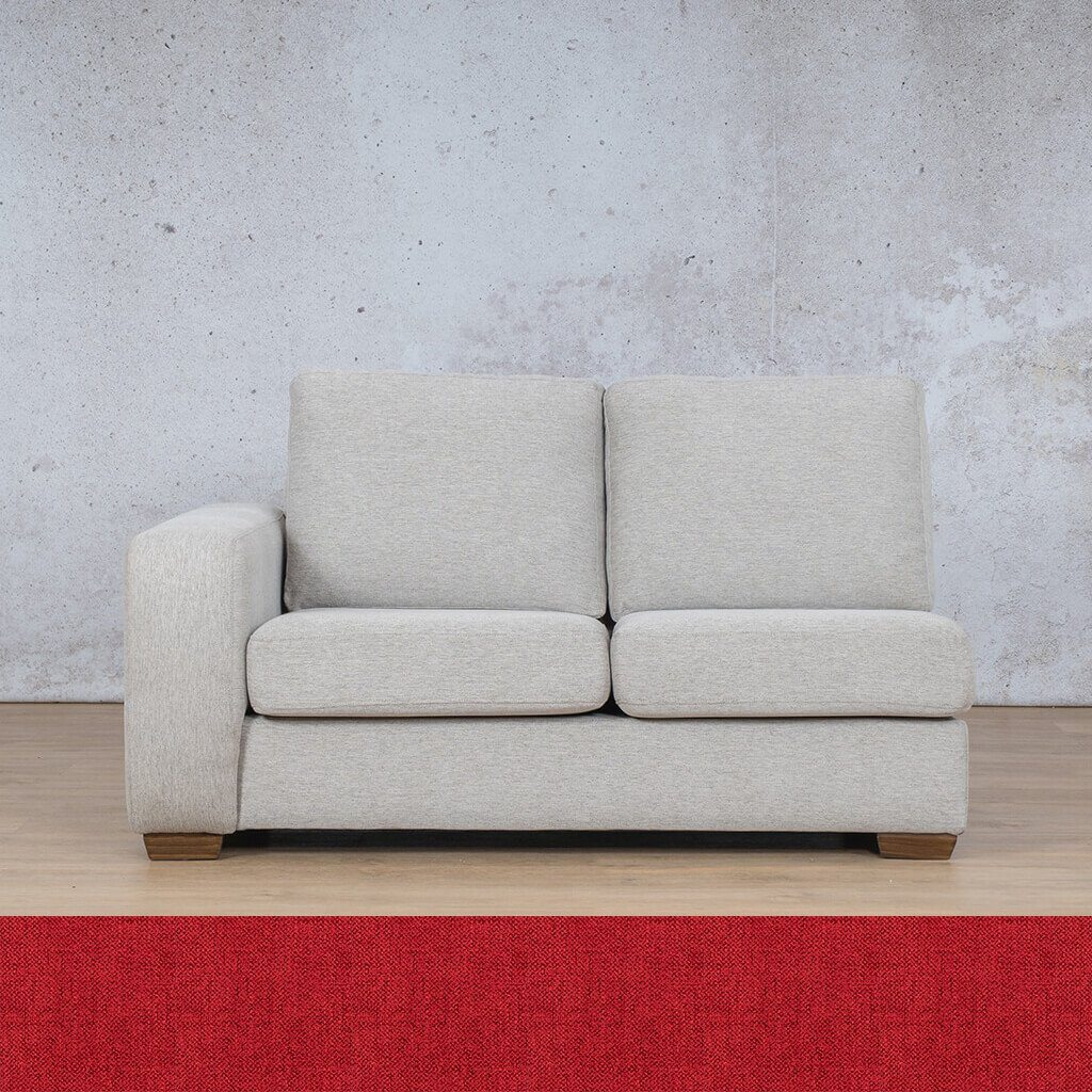 Stanford Fabric Corner Couch | 2 Seater Right Arm | Delicious Cherry | Couches For Sale | Leather Gallery Couches