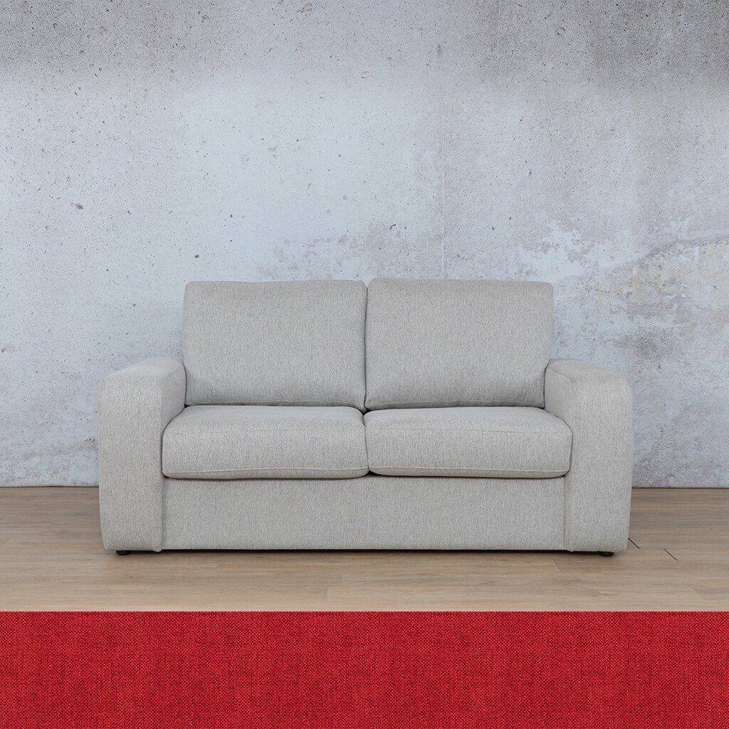 Stanford Fabric Sleeper Couch | 2 seater couch | Delicious Cherry | Couches for Sale | Leather Gallery Couches