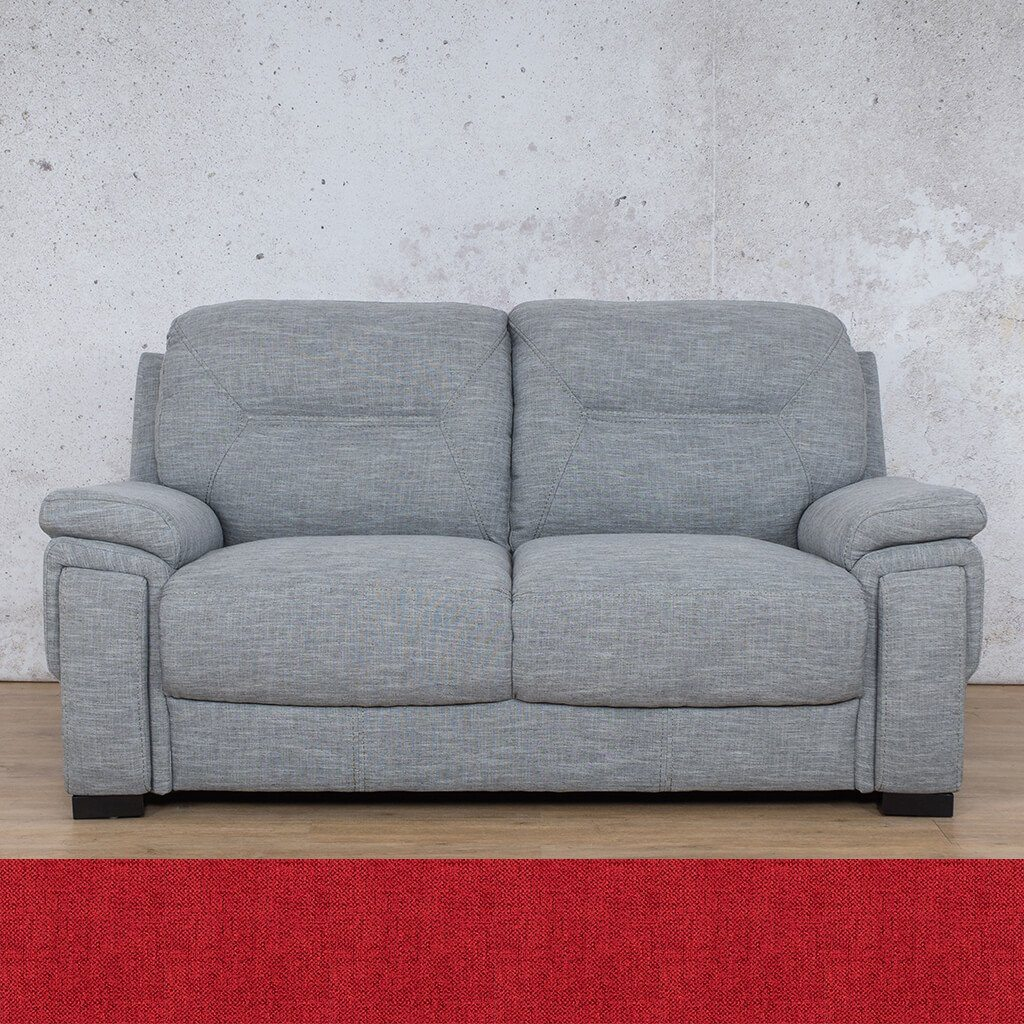 San Lorenze Fabric Couch | 2 seater couch | Delicious Cherry | Couches for Sale | Leather Gallery Couches