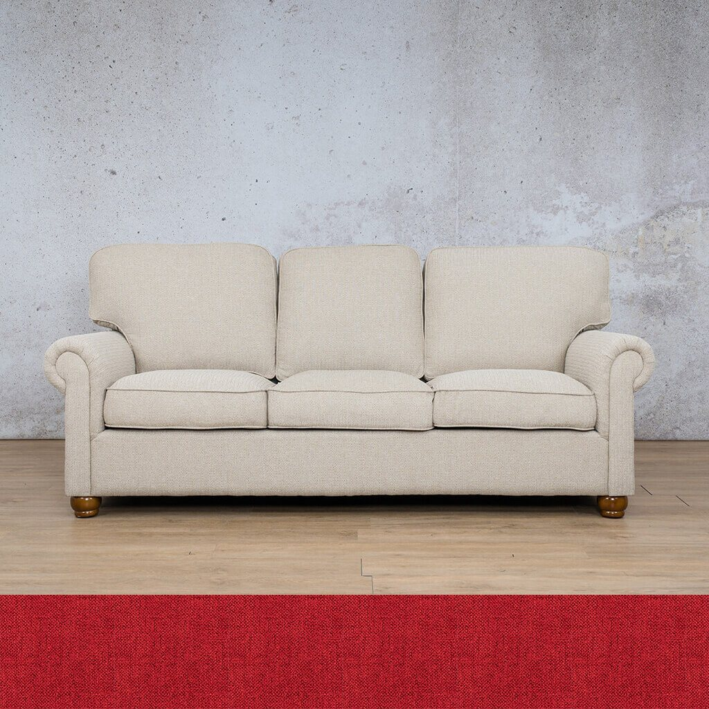 Salisbury Fabric Couch | 3 seater couch | Delicious cherry | Couches for Sale | Leather Gallery Couches