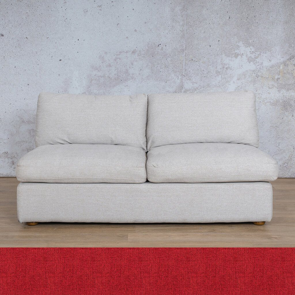 Skye Fabric Corner Couch | Armless 2 Seater Couch | Delicious Cherry | Couches For Sale | Leather Gallery Couches