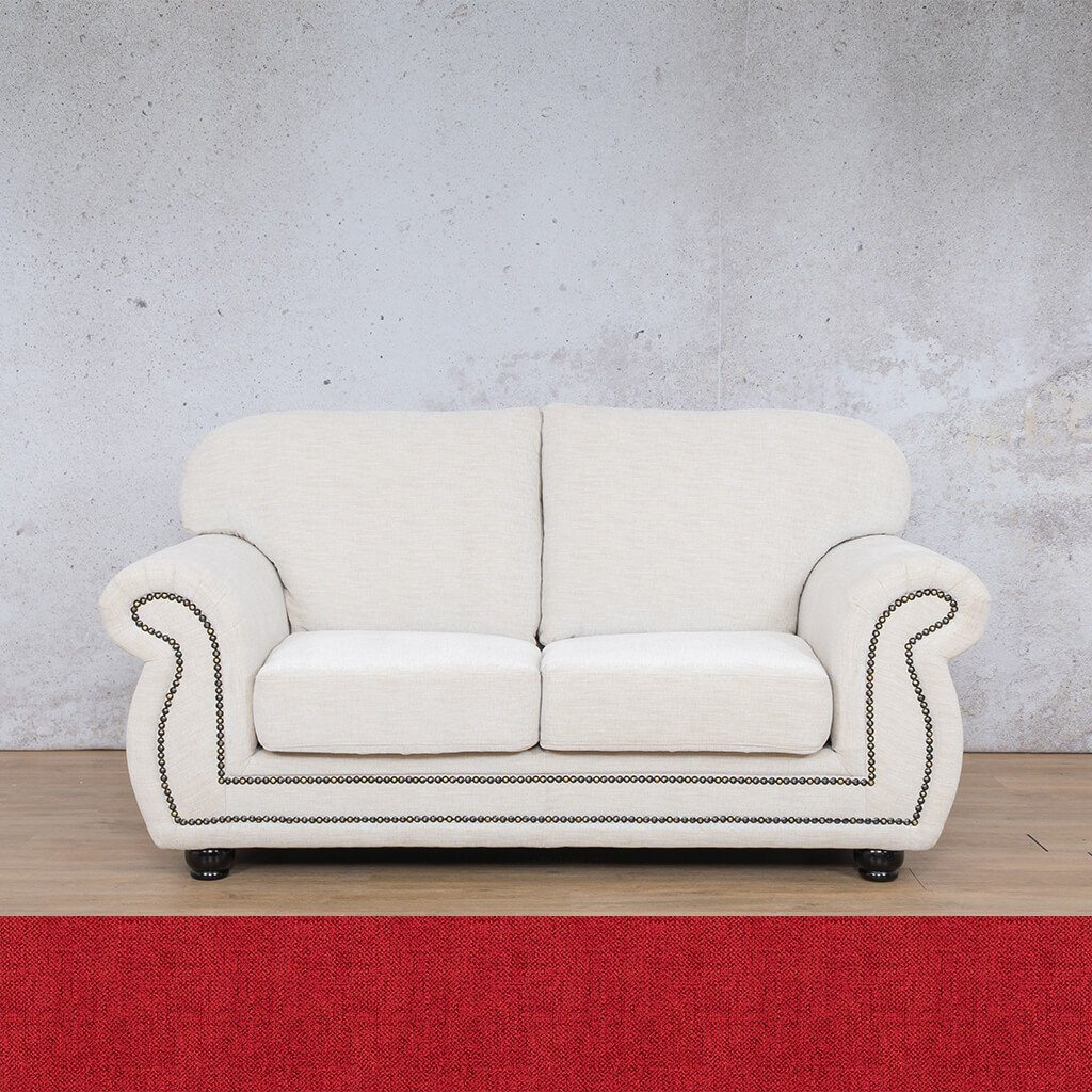 Isilo Fabric sofa suite | 2 Seater Couch  | Couches for Sale| Delicious Cherry | Leather Gallery Couches