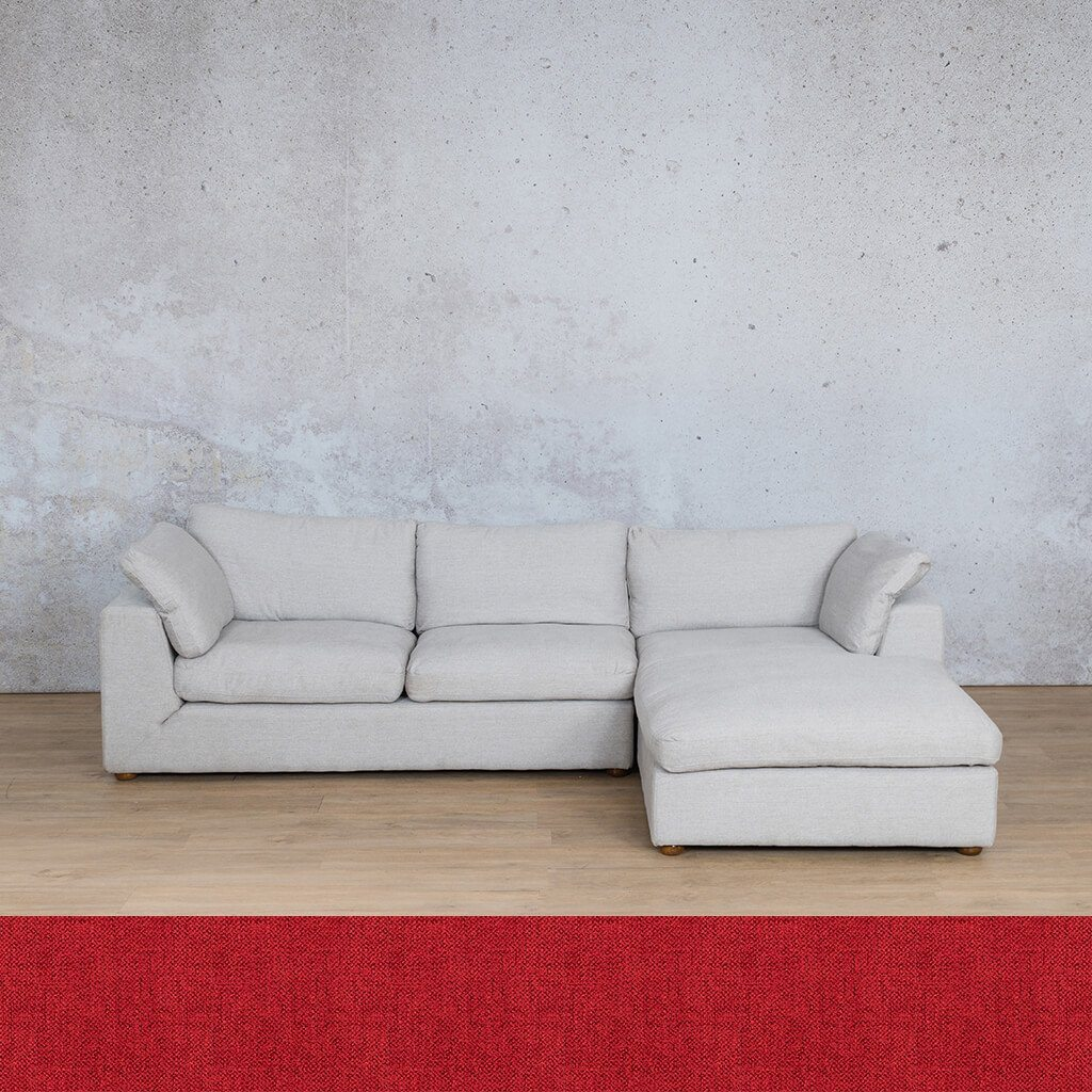 Skye Fabric Corner Couch | Chaise Sectional-RHF | Delicious Cherry | Couches For Sale | Leather Gallery Couches