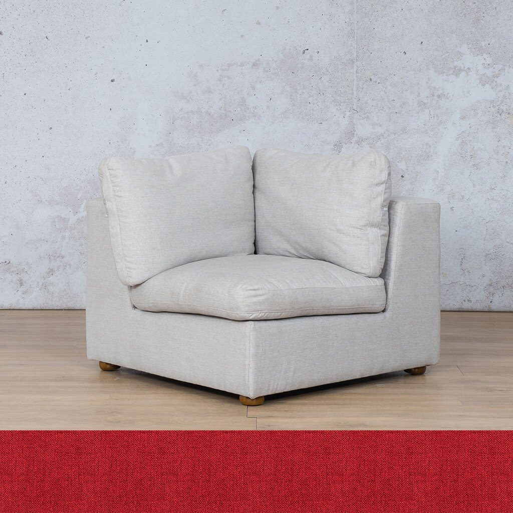 Skye Fabric Corner Couch | 1 Seater Couch | Delicious Cherry | Couches For Sale | Leather Gallery Couches