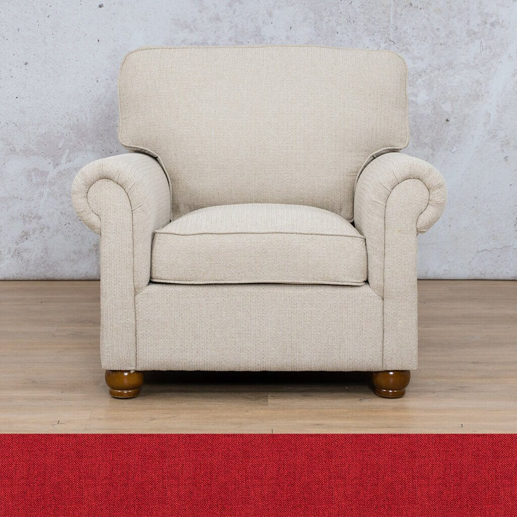 Salisbury Fabric Couch | 1 Seater Couch  | Couches for Sale | Delicious Cream | Leather Gallery Couches
