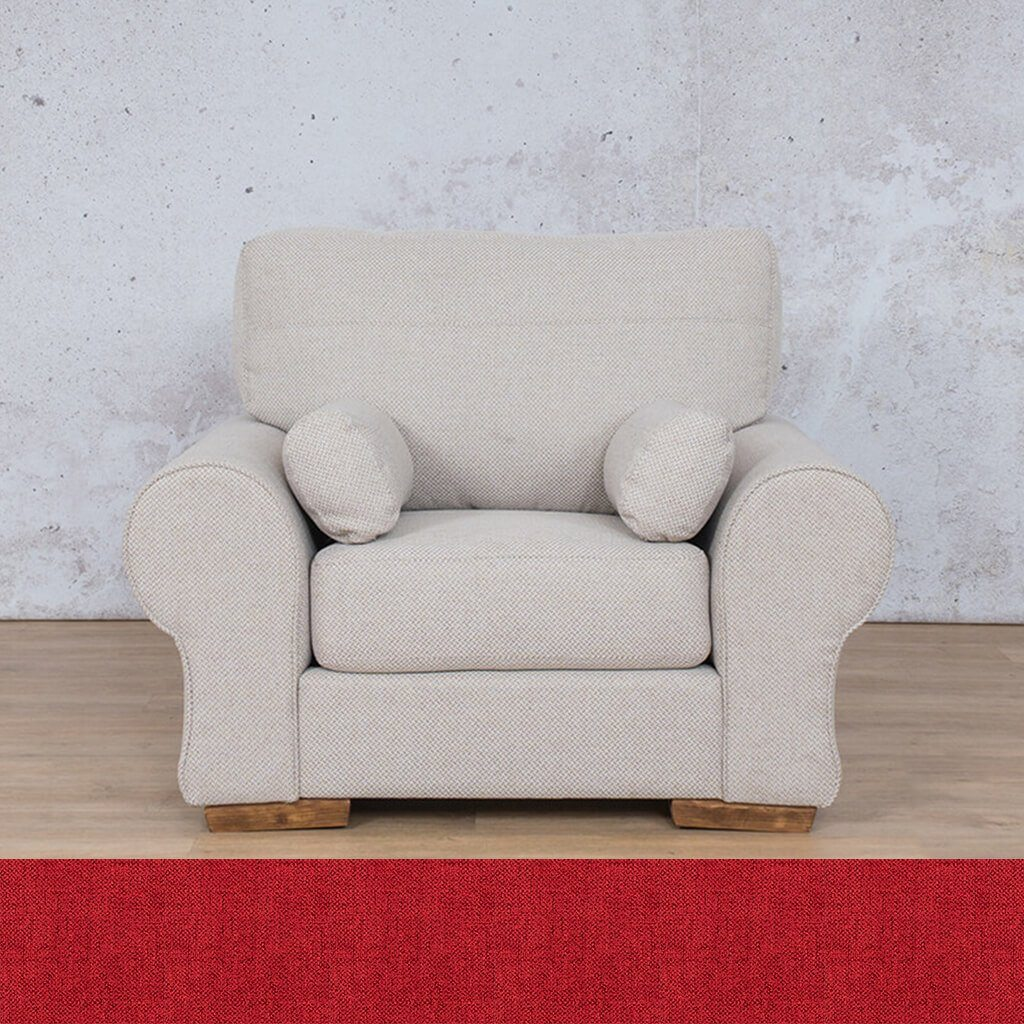 Carolina Fabric Couch | 1 seater couch | Delicious Cherry | Couches for Sale | Leather Gallery Couches