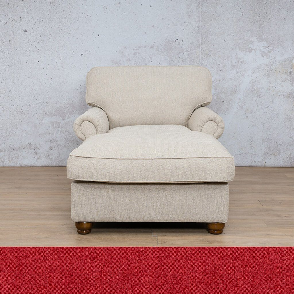 Salisbury Fabric Corner Couch | 2 Arm Chaise | Delicious Cherry | Couches For Sale | Leather Gallery Couches