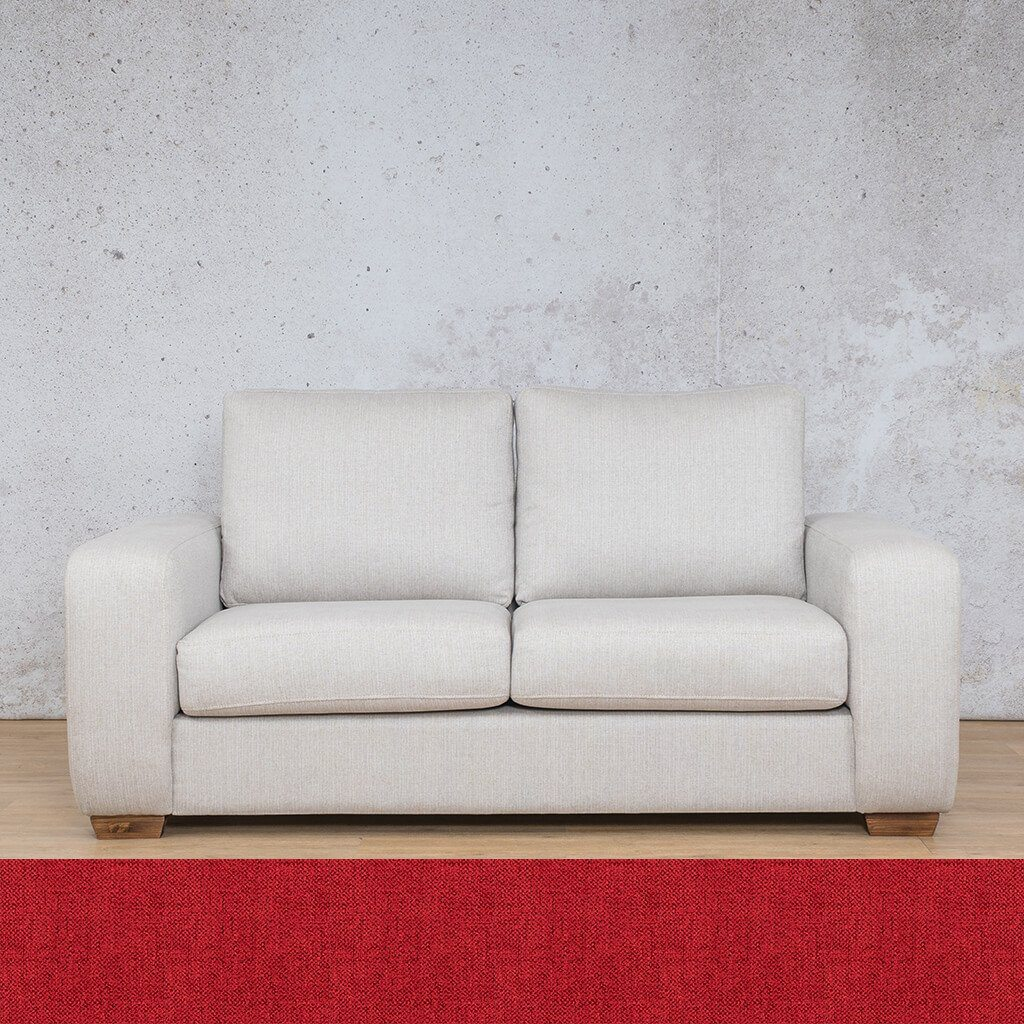Stanford Fabric Couch | 2 seater couch | Delicious Cherry | Couches for Sale | Leather Gallery Couches