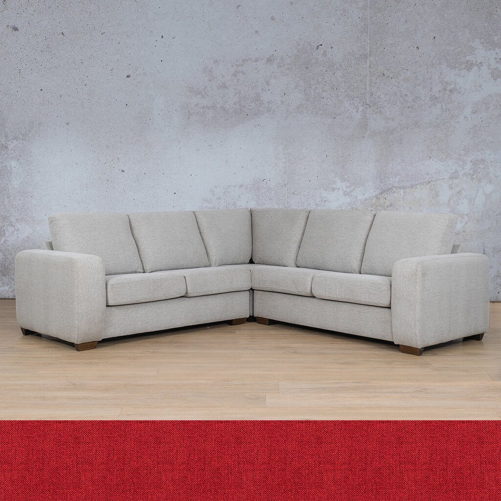 Stanford Fabric Corner Couch | L-Sectional 5 Seater Couch | Delicious Cherry | Couches For Sale | Leather Gallery Couches
