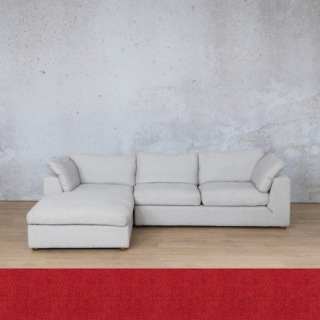 Skye Fabric Corner Couch | Chaise Sectional-LHF | Delicious Cherry | Couches For Sale | Leather Gallery Couches