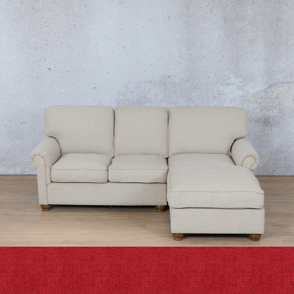 Salisbury Fabric Corner Couch | Chaise Sectional-RHF | Delicious Cherry | Couches For Sale | Leather Gallery Couches