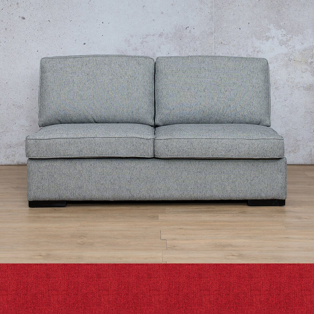 Arizona Fabric Couch | Armless 2 Seater Couch | Delicious Cherry | Couches For Sale | Leather Gallery Couches