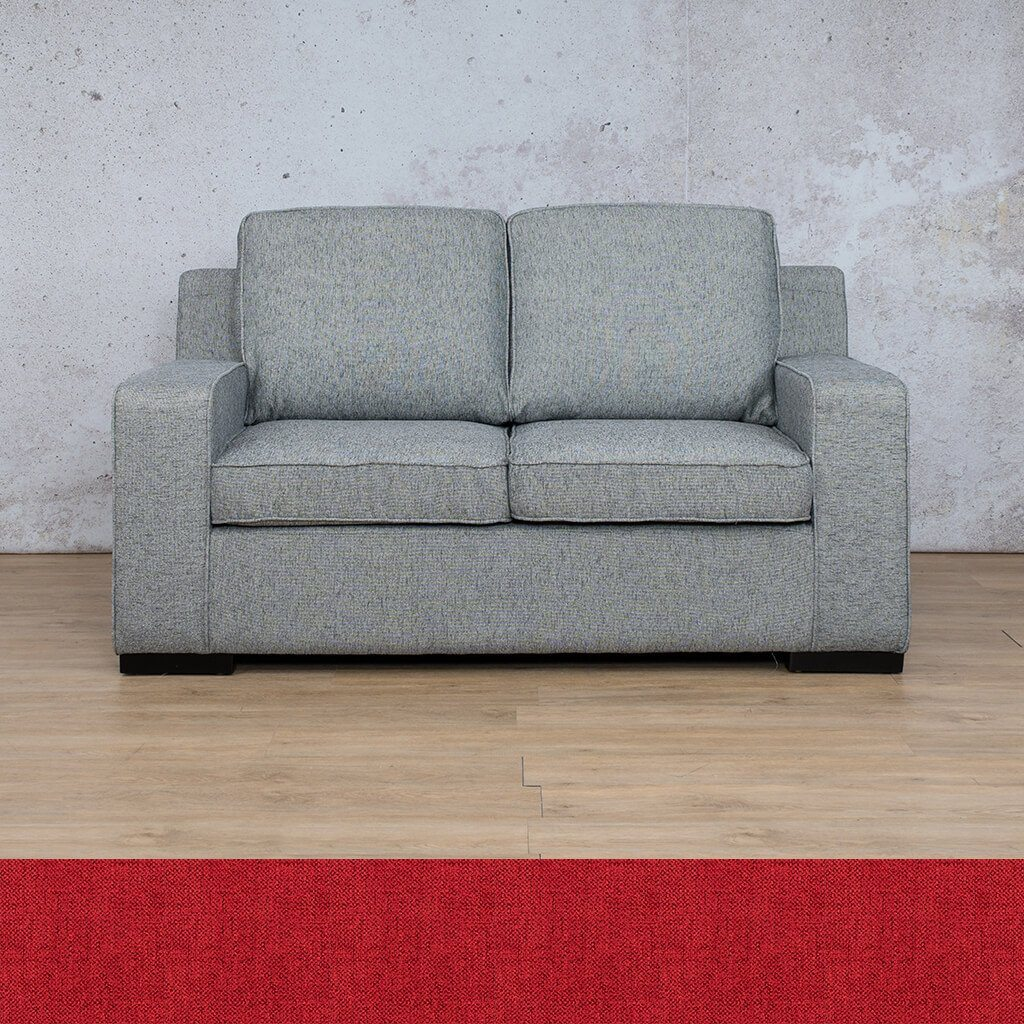 Arizona Fabric Couch | 2 seater couch | Delicious Cherry | Couches for Sale | Leather Gallery Couches