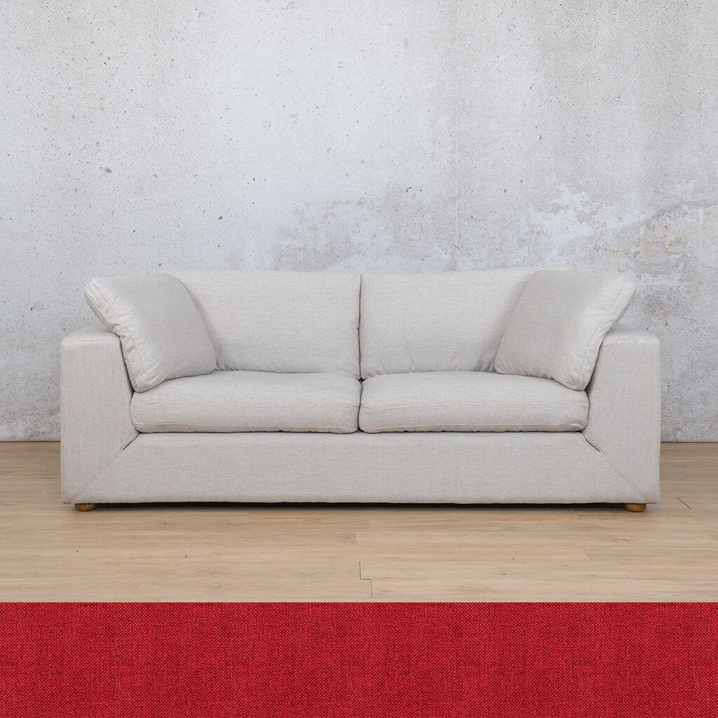Skye Fabric Corner Couch | 3 Seater Couch | Delicious Cherry | Couches For Sale | Leather Gallery Couches