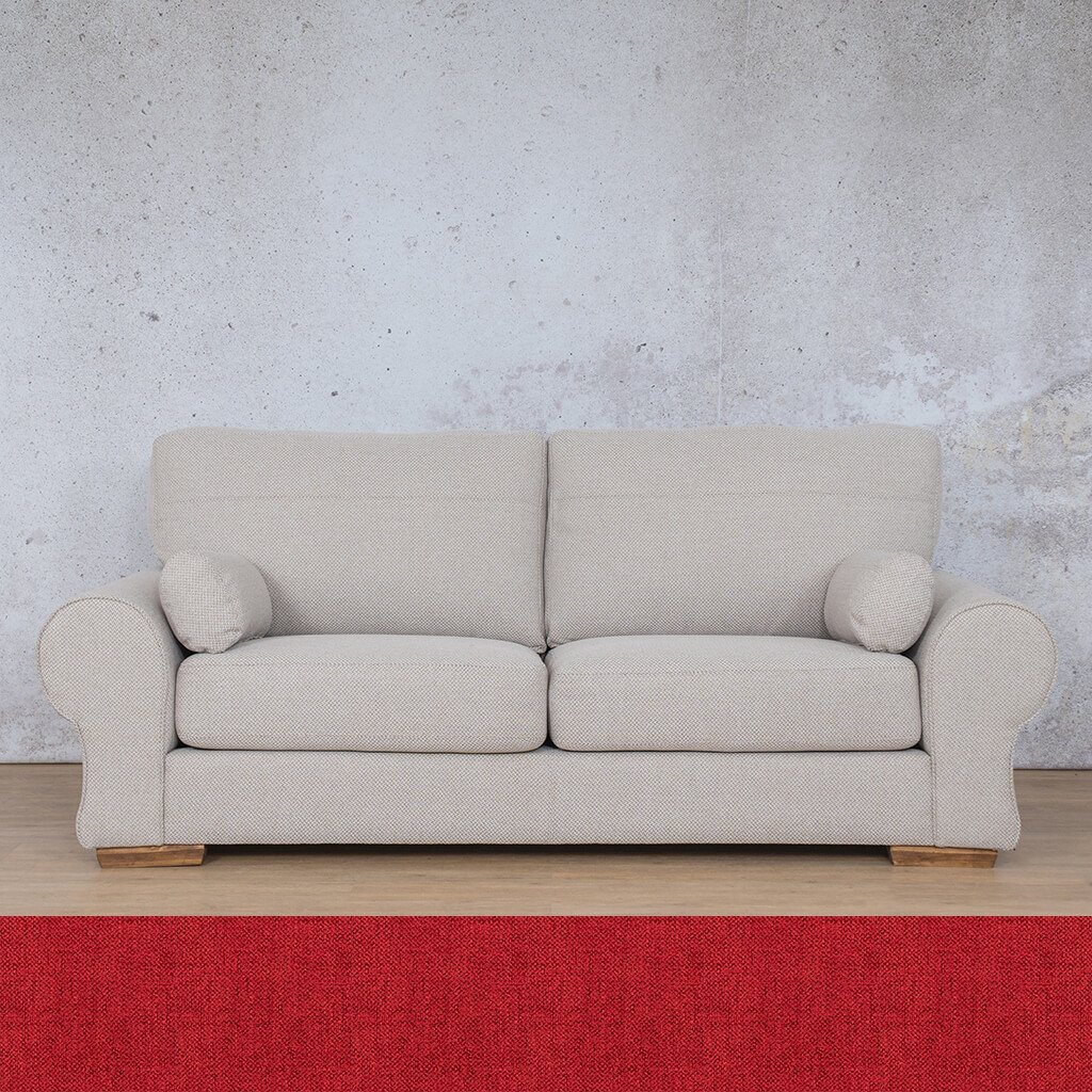 Carolina Fabric Couch | 3 seater couch | Delicious Cherry | Couches for Sale | Leather Gallery Couches