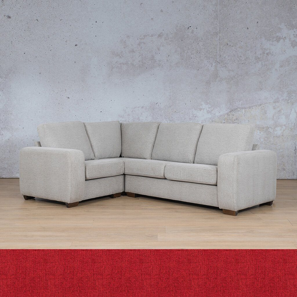 Stanford Fabric Corner Couch | L-Sectional 4 Seater Couch-LHF | Delicious Cherry | Couches For Sale | Leather Gallery Couches