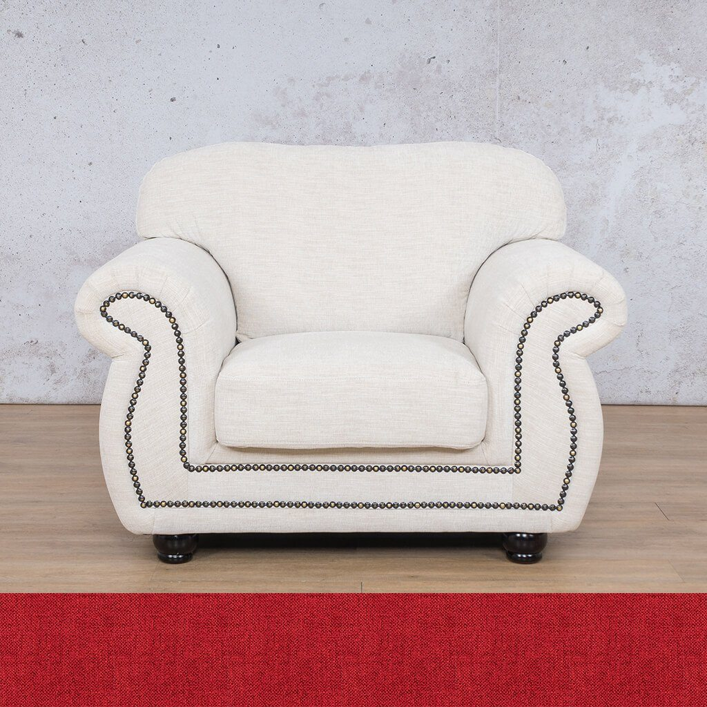 Isilo Fabric sofa suite | 1 Seater Couch  | Couches for Sale| Delicious Cherry | Leather Gallery Couches